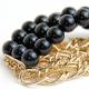 "Bracelet ""Black&Gold"""