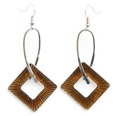 "Earrings ""Amber Diamond"""