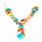 """Necklace """"Multicolour Rings"""""""