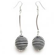 "Earrings ""Striped Circles"""