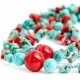 """Necklace """"Turquoise and Red"""""""