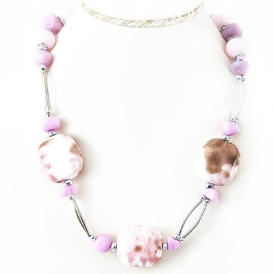 """Necklace """"Pale Pink Stone"""""""