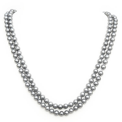 """Necklace """"Classic Grey Pearls"""""""