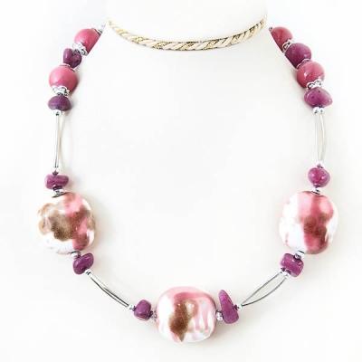 """Naszyjnik """"Pink Stone"""""""