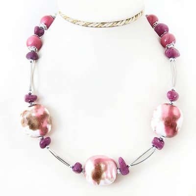 """Necklace """"Pink Stone"""""""