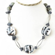 "Necklace ""Grey Stone"""