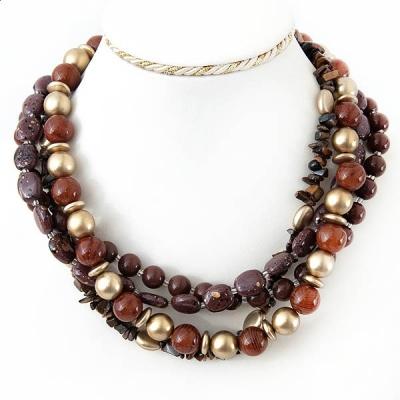 "Necklace ""Chocolates Beads"""