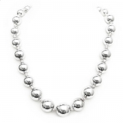 """Necklace """"Silver Beads"""""""