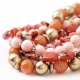"""Necklace """"Pink and Brown Beads"""""""