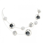 "Necklace ""Silver Flash"""