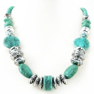 "Necklace ""Turquoise Mosaic"""