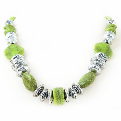 """Necklace """"Green Mosaic"""""""